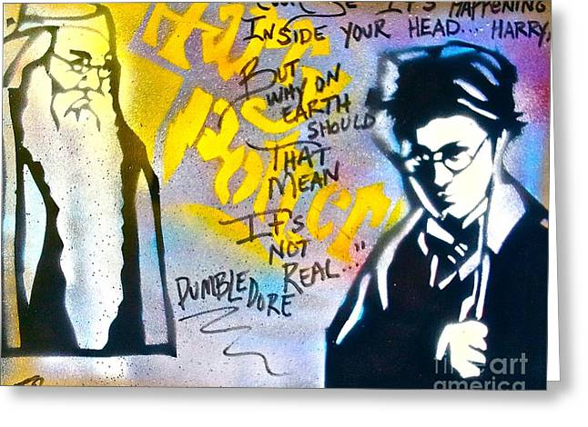 Harry Potter with Dumbledore Greeting Card by TONY B CONSCIOUS