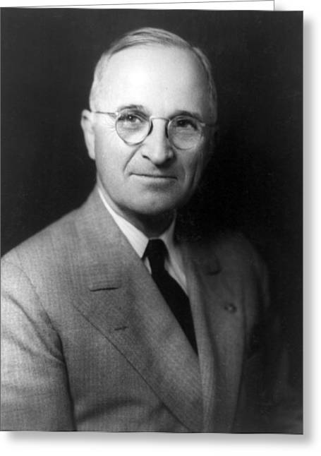 U S Presidents Greeting Cards - Harry S Truman - President of the United States of America Greeting Card by International  Images