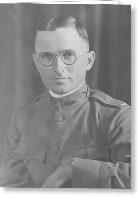 Here Greeting Cards - Harry Truman During World War One Greeting Card by War Is Hell Store