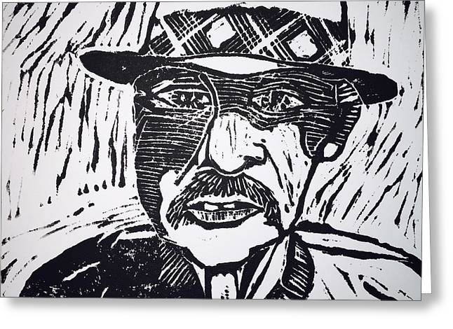 Mustaches Reliefs Greeting Cards - Harrys Hat Greeting Card by Jame Hayes