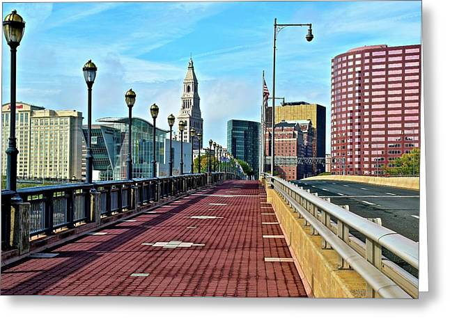 Hartford Welcomes You Greeting Card by Frozen in Time Fine Art Photography