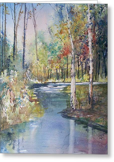 Fall Trees Greeting Cards - Hartman Creek Birches Greeting Card by Ryan Radke