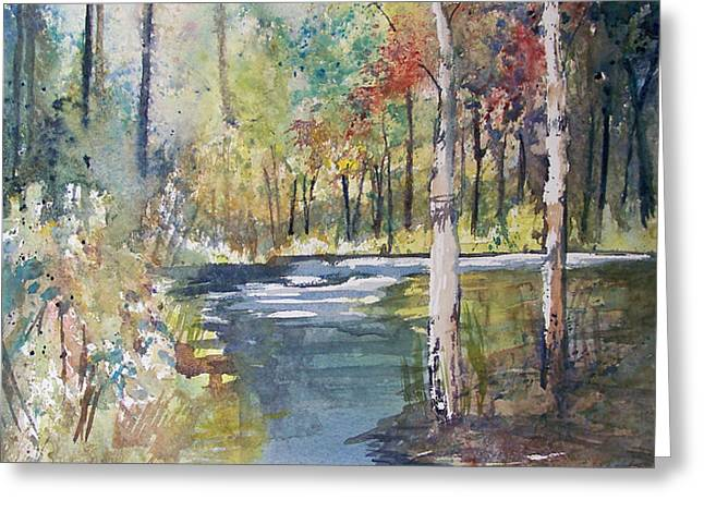 Hartman Creek Birches Greeting Card by Ryan Radke