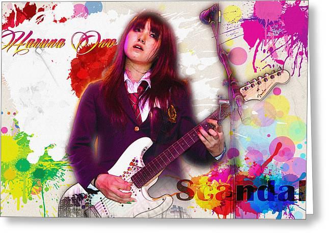 Haruna Ono - Scandal Greeting Card by Don Kuing