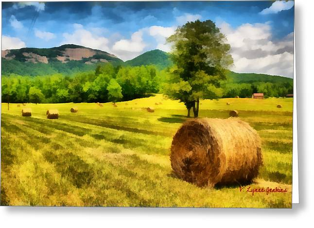 Recently Sold -  - Field. Cloud Greeting Cards - Harvest at Table Rock Greeting Card by Lynne Jenkins