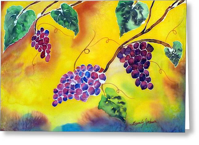 Harvest Tapestries - Textiles Greeting Cards - Harvest Greeting Card by Beverly Johnson