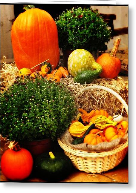 Orchard Digital Art Greeting Cards - Harvest Greeting Card by Bill Cannon