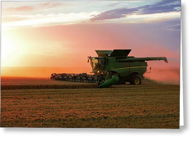 Harvest Colors Greeting Card by Todd Klassy