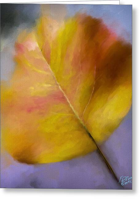 Scenic Drive Greeting Cards - Harvest Gold - Painting Greeting Card by F Leblanc