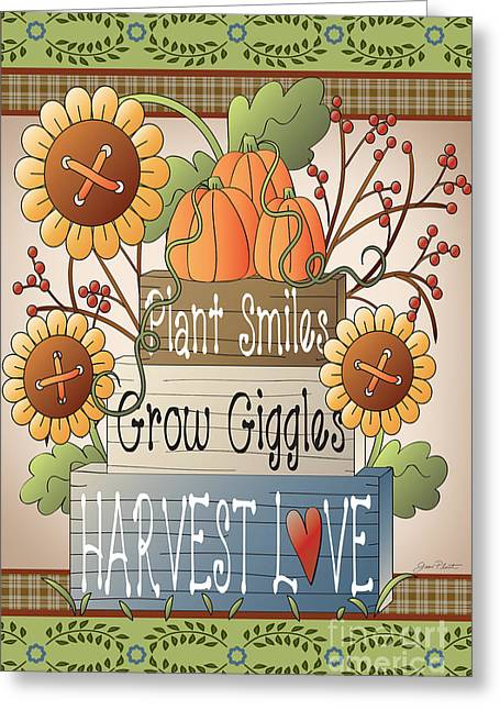 Crows Greeting Cards Greeting Cards - Harvest Love-JP2833 Greeting Card by Jean Plout