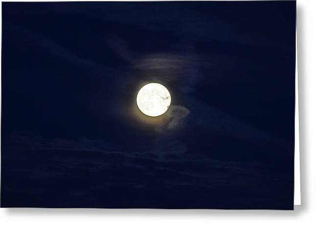 Harvest Moon Greeting Cards - Harvest Moon Evening Greeting Card by Peter  McIntosh