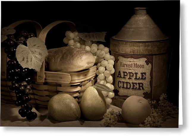 Apple Photographs Greeting Cards - Harvest Moon Greeting Card by Tom Mc Nemar