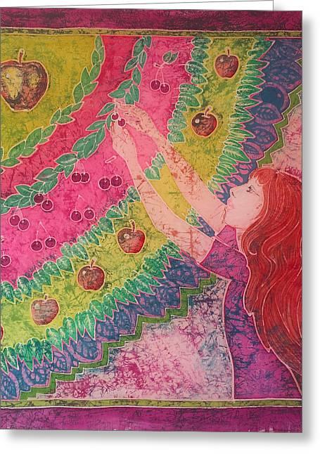 Harvest Tapestries - Textiles Greeting Cards - Harvest Greeting Card by Natalya Zaytseva