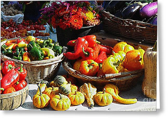 Ebsq Greeting Cards - Harvest table Greeting Card by Dee Flouton
