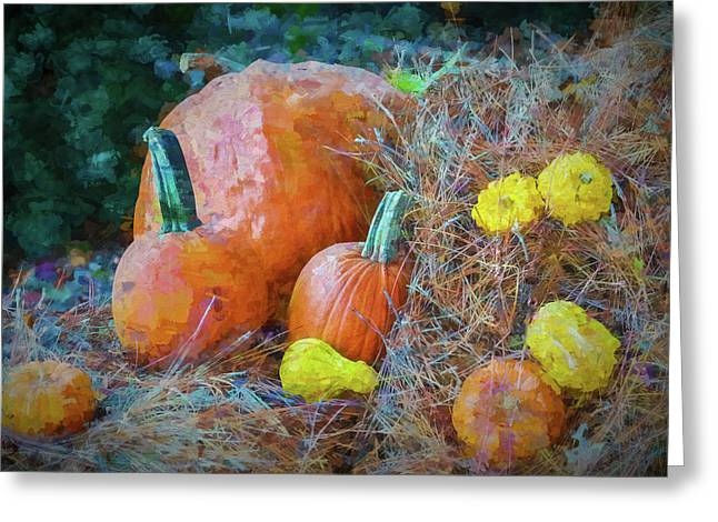 Harvest Time Greeting Card by Ches Black