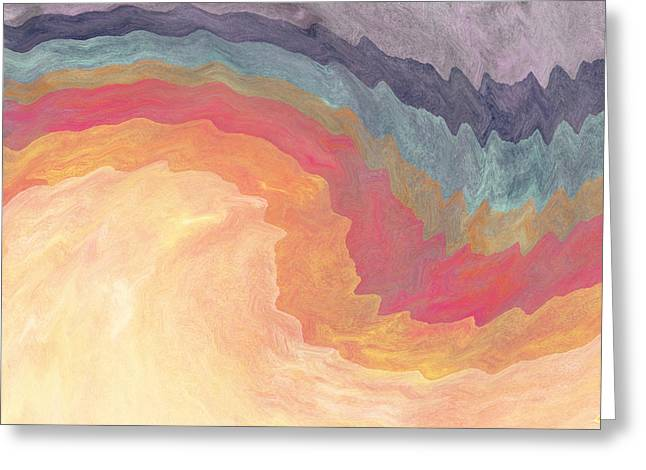 Barrel Mixed Media Greeting Cards - Harvest Wind- Abstract Art by Linda Woods Greeting Card by Linda Woods