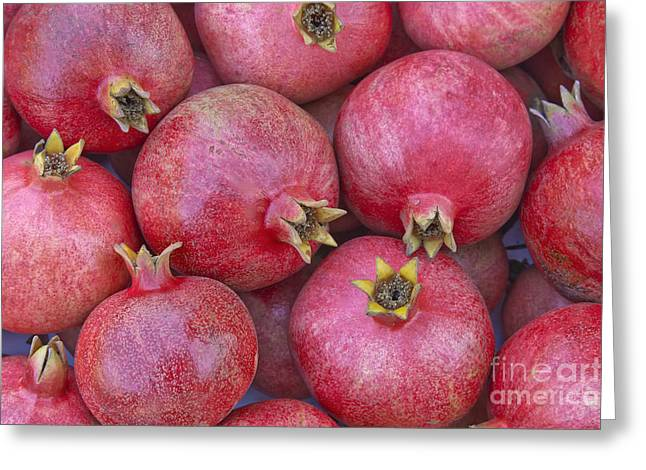 Punica Granatum Greeting Cards - Harvested Pomegranates Greeting Card by Inga Spence