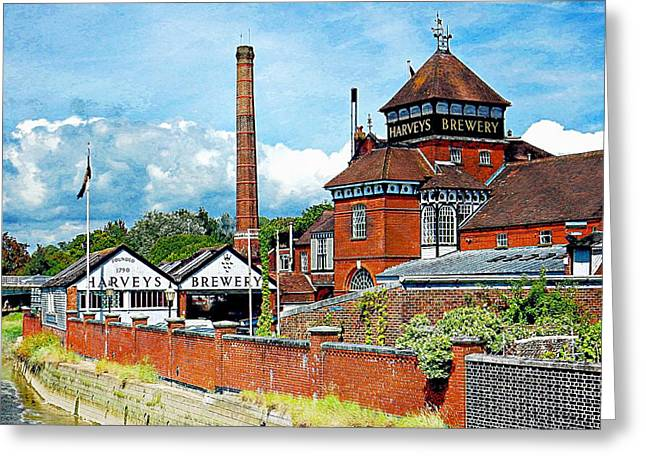 Harveys Brewery Lewes Greeting Card by Dorothy Berry-Lound