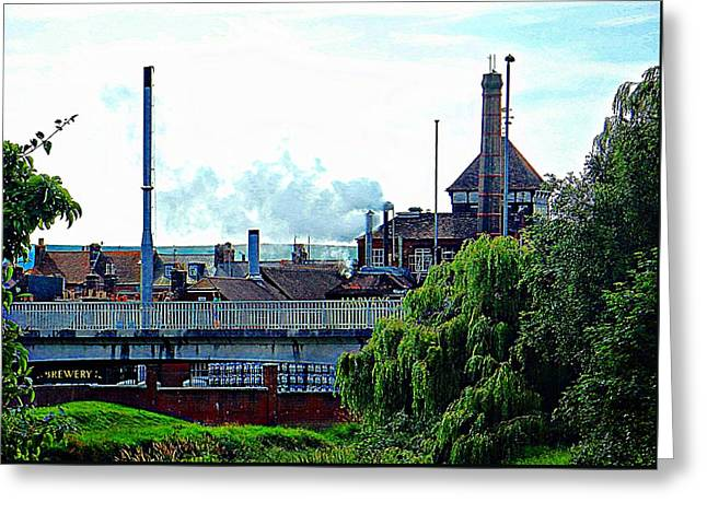 Harveys Brewery Lewes Rear View Greeting Card by Dorothy Berry-Lound