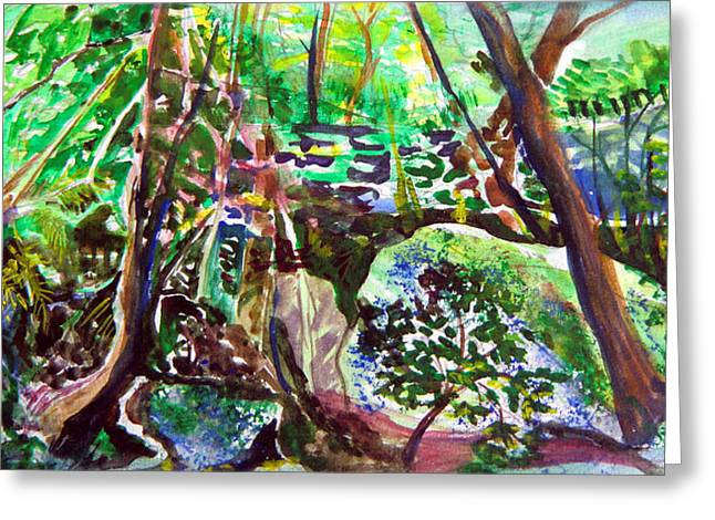 Viridian Greeting Cards - Hasack Cave in Ohio Greeting Card by Mindy Newman