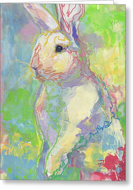 Lapin Greeting Cards - Hat Trick Greeting Card by Kimberly Santini