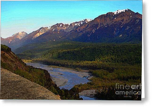 Hatcher's Pass Alaska Greeting Card by Diane E Berry
