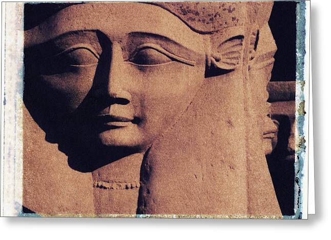 Mut Greeting Cards - Hathor Greeting Card by Bernice Williams