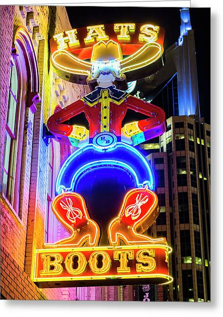 Nashville Tennessee Greeting Cards - Hats and Boots Greeting Card by Stephen Stookey