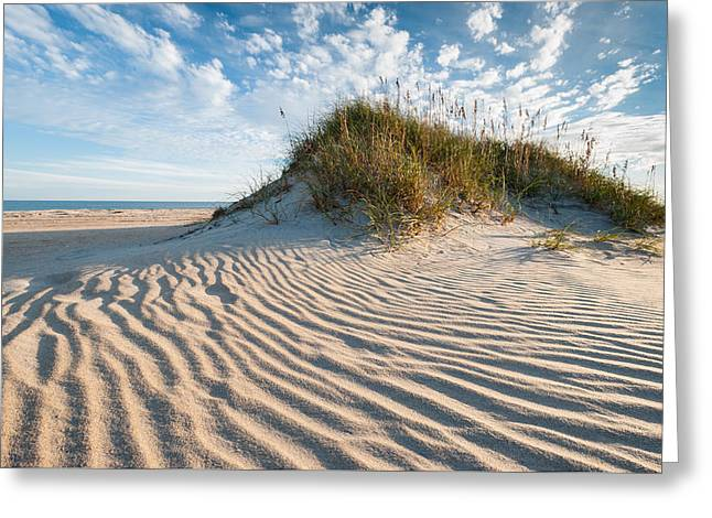 Sand Pattern Greeting Cards - Hatteras Dune Patterns Greeting Card by Mark VanDyke