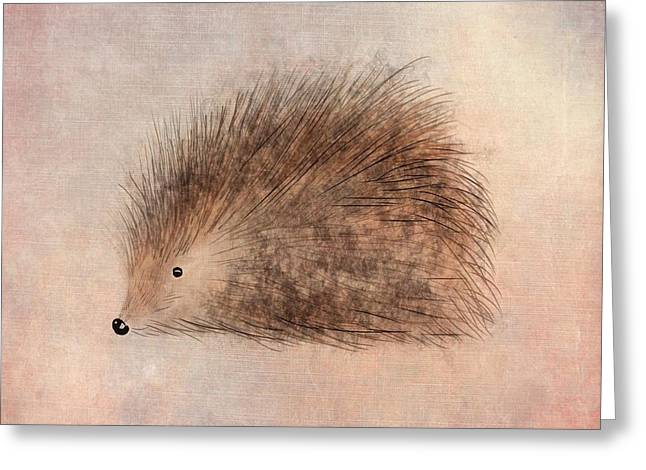 Hattie Hedgehog  Greeting Card by John Edwards