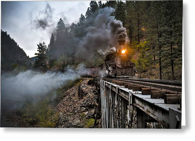 Durango Greeting Cards - Hauling though the mountains Greeting Card by Patrick  Flynn