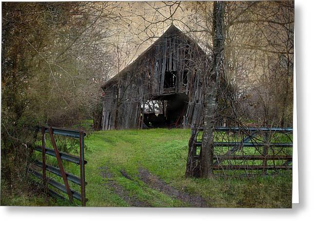 Haunted Barn Greeting Card by Lisa Moore
