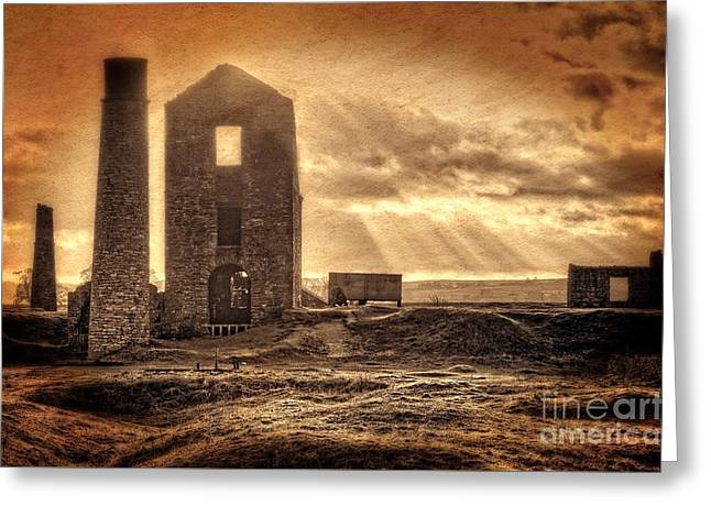 Ghostly Greeting Cards - Haunted Britain - Magpie Mine Greeting Card by David Birchall