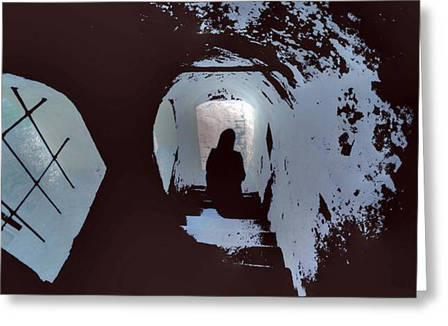 Frightening Castle Greeting Cards - Haunted Castle Greeting Card by Don Wolf
