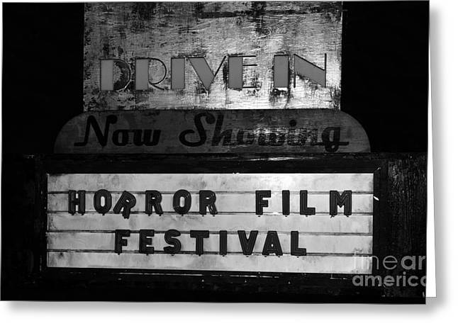 Horror Film Greeting Cards - Haunted drive in Greeting Card by David Lee Thompson