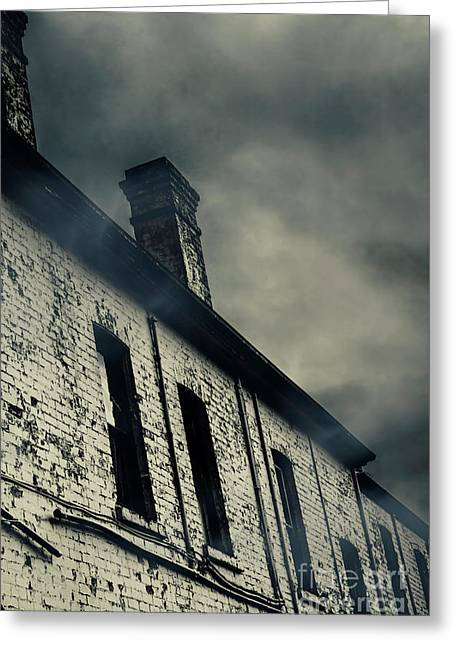 Haunted House Details Greeting Card by Jorgo Photography - Wall Art Gallery