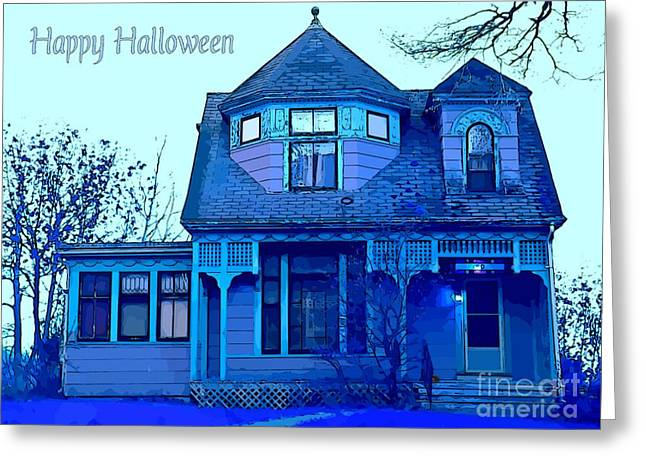 Occasion Greeting Cards - Haunted Houses Greeting Card by John malone