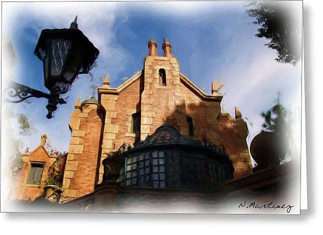 Haunted Mansion Digital Art Greeting Cards - Haunted Mansion Greeting Card by Nora Martinez