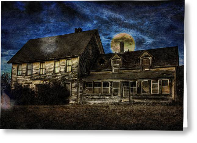 Haunted Nights Greeting Card by Gary Smith