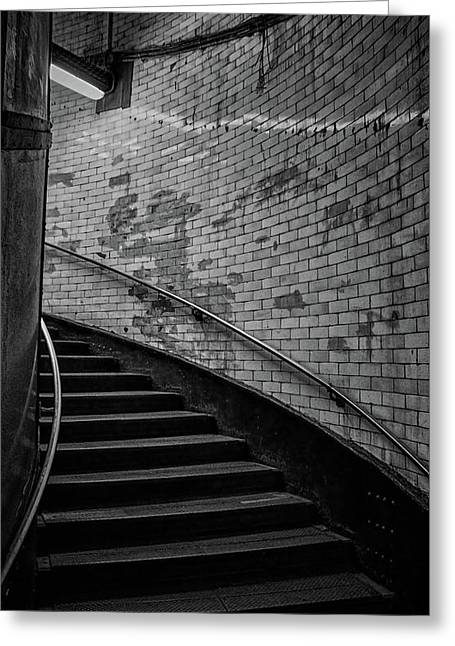 Haunted Stairs Greeting Card by Martin Newman