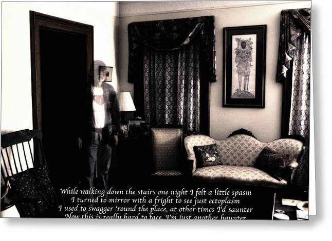 Self-portrait Photographs Greeting Cards - Haunting Myself II Greeting Card by Ross Powell