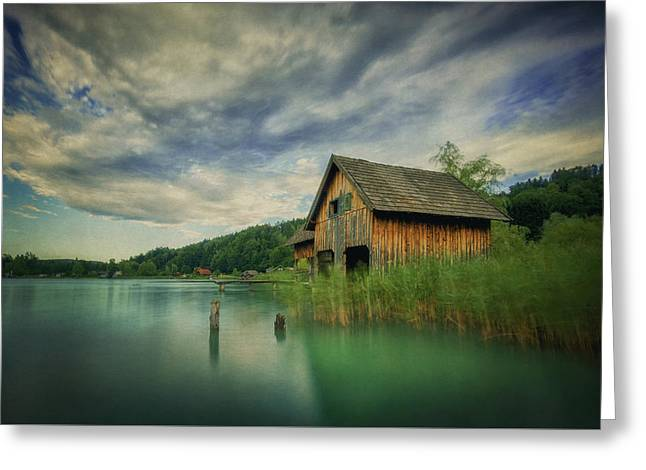 Haus Am See Greeting Card by Martin Podt