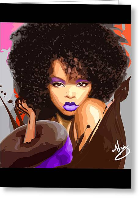Haute Chocolat Greeting Card by Moxxy Simmons