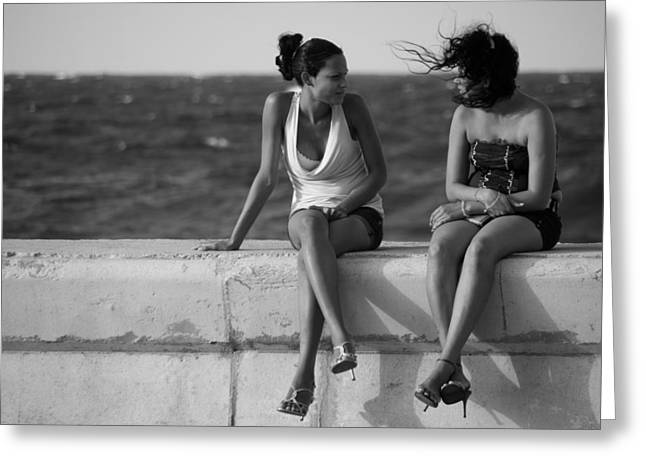 Havana Greeting Cards - Havana Beauties Greeting Card by Peter Verdnik