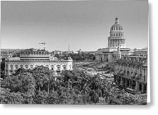 Greater Antilles Greeting Cards - Havana Cuba Capitola Greeting Card by David  Zanzinger