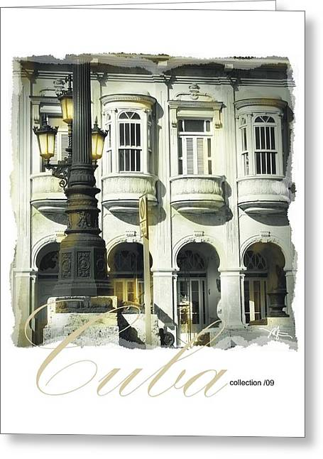 Havana Greeting Cards - Havana Facade Greeting Card by Bob Salo