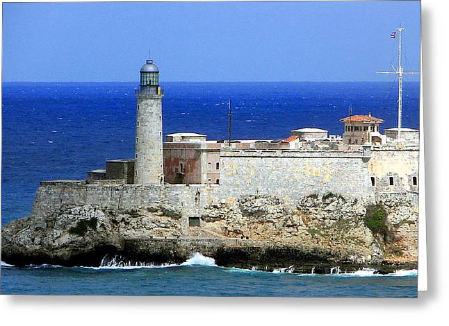 Havana Greeting Cards - Havana Harbor Lighthouse Greeting Card by Karen Wiles