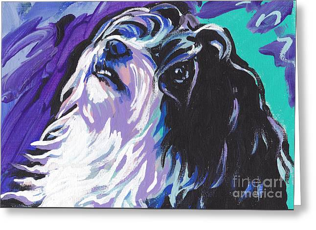 Dog Portraits Greeting Cards - Havanese Greeting Card by Lea
