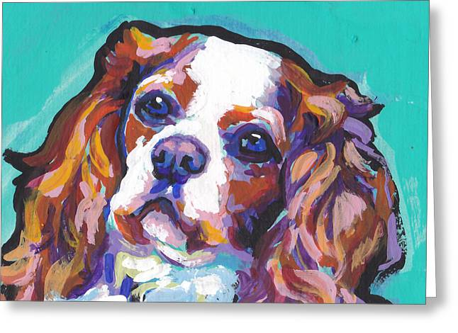 Cavaliers Paintings Greeting Cards - Have A Cav Greeting Card by Lea
