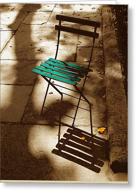Have A Seat Greeting Card by Tom Kostro